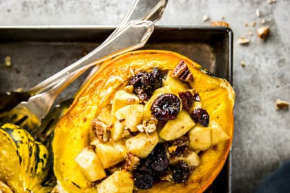 Cranberry Apple Stuffed Acorn Squash