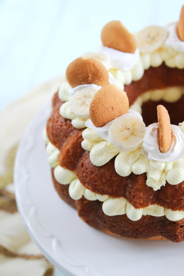 Homemade Banana Pudding Bundt Cake