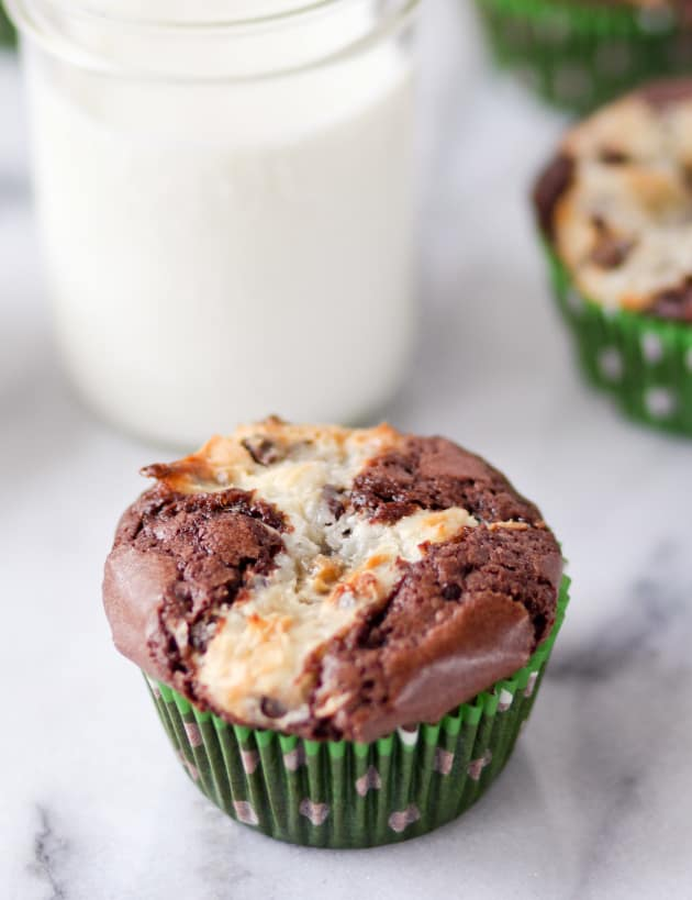 Cream Cheese Brownie Cupcakes Image