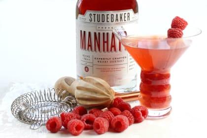 Raspberry Manhattan