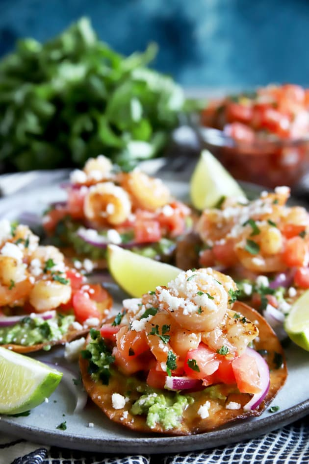 Honey Lime Shrimp and Guacamole Tostadas Pic
