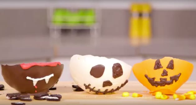 Edible Halloween Inspired Chocolate Bowls