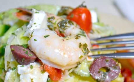 Mediterranean Shrimp Wedge Salad Image