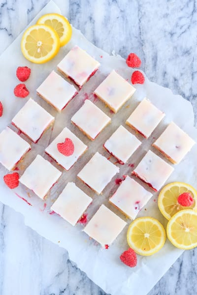 Raspberry Lemon Blondies Image
