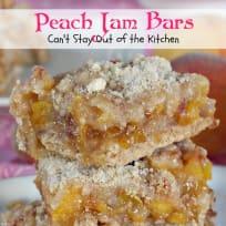 Peach Jam Bars