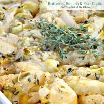 Butternut Squash and Pear Gratin