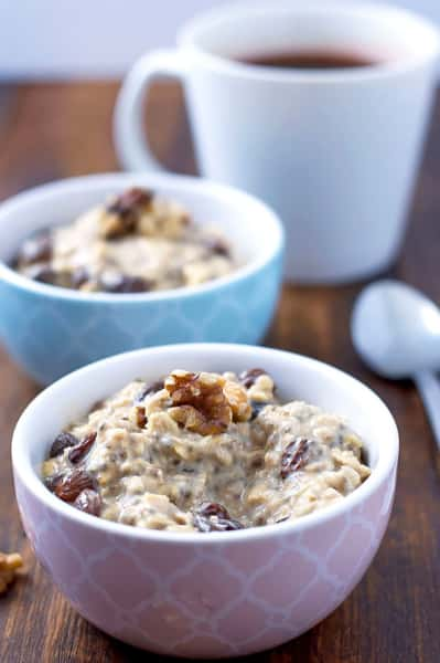 Gluten Free Oatmeal Raisin Overnight Oats Pic
