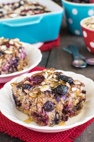 Almond Berry Baked Oatmeal Picture