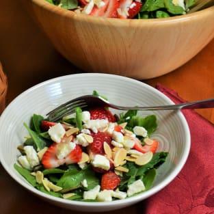 Strawberry spinach salad photo
