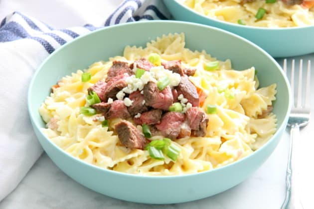 Steak Gorgonzola Pasta Photo