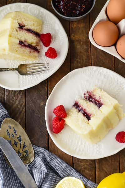 Lemon Raspberry Cake for Two Picture