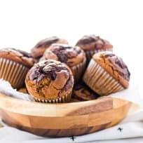 Gluten Free Nutella Swirl Pumpkin Muffins Recipe