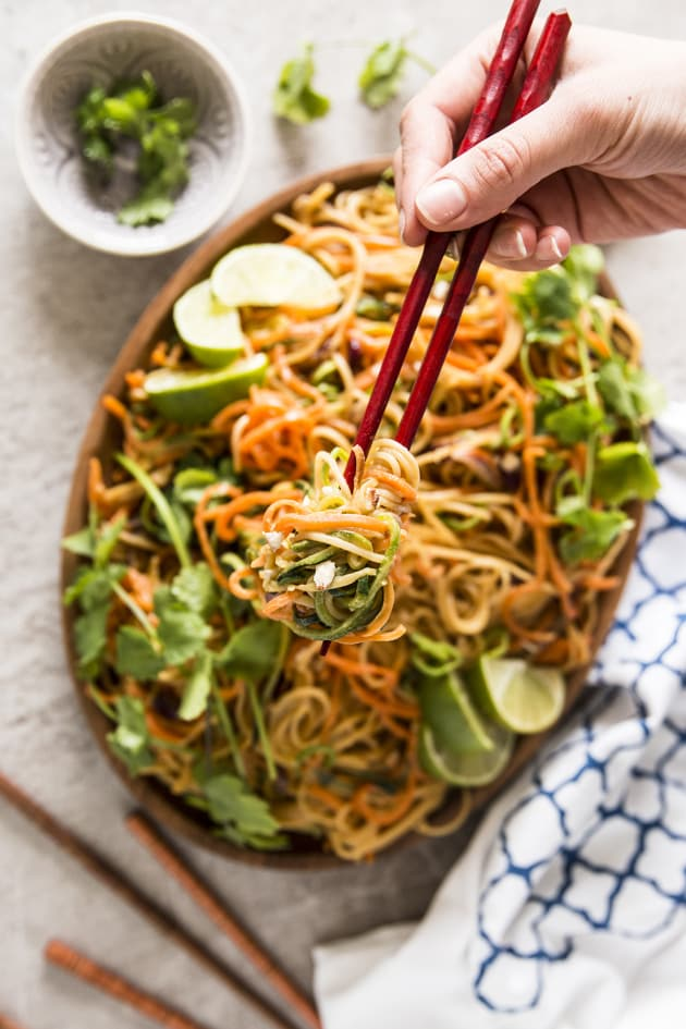 Thai Peanut Noodles with Spiralized Vegetables Picture