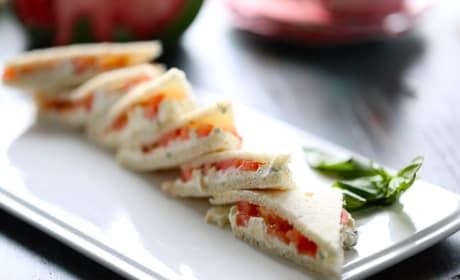 Tomato Feta Tea Sandwiches Image