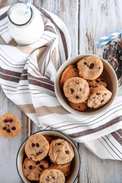 Mini Chocolate Chip Peanut Butter Cookie Cups Image