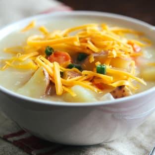 Cheddar potato soup photo