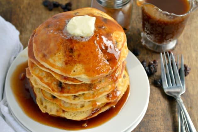 Cinnamon Raisin Bread Pancakes Photo