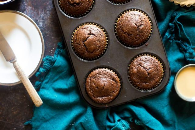 Paleo Chocolate Maple Tahini Muffins