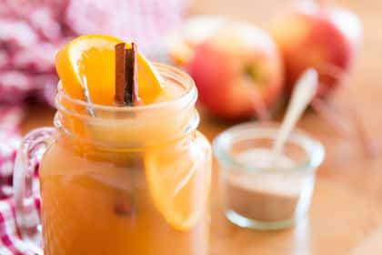 Slow Cooker Spiced Apple Cider with Orange