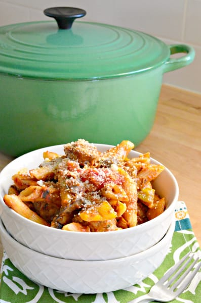 Sausage and Peppers Pasta Picture