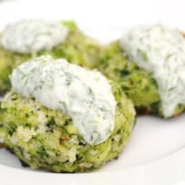 Broccoli Bites with Yogurt Dill Sauce