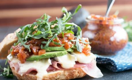 Avocado Prosciutto Brie Sandwiches Recipe