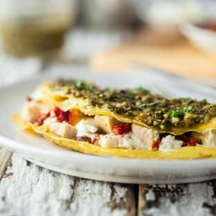 Pesto omelet photo
