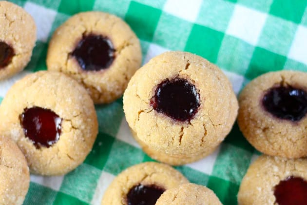 Peanut Butter & Jelly Thumbprint Cookies Photo