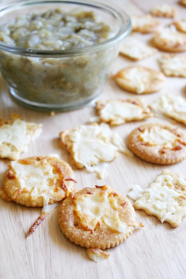 Melted Cheese Crackers Picture
