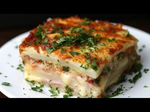 How To Make Layered Ham Amp Cheese Potato Bake Food Fanatic