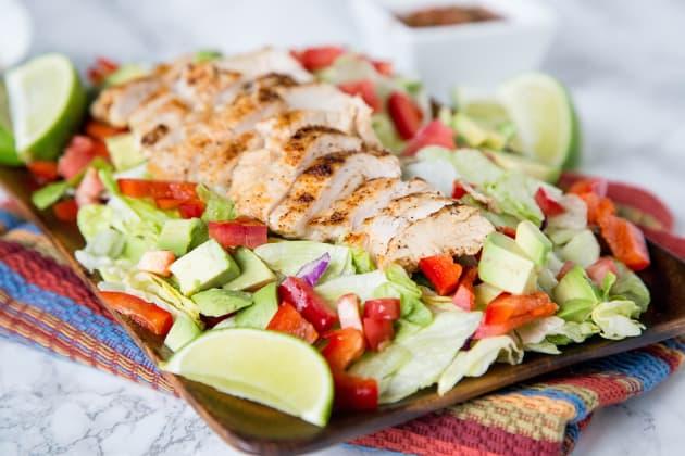 Chicken fajita salad recipe food fanatic forumfinder Image collections