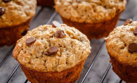 Chocolate Chip Banana Oatmeal Muffins Recipe