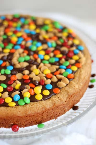 Chocolate Peanut Butter Cookie Pizza Pic