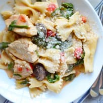 Instant Pot Chicken Florentine Pasta Recipe