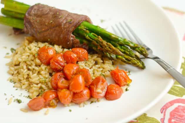 Steak Wrapped Asparagus Pic