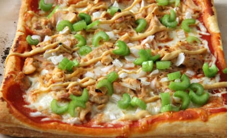 Puff Pastry Honey Mustard Chicken Pizza Photo