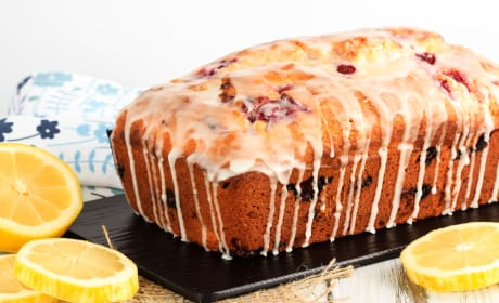 Glazed Raspberry Lemon Bread Recipe