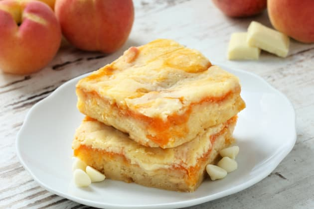 Gluten Free Apricot White Chocolate Blondies Photo