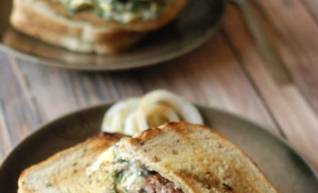 Spinach Artichoke Patty Melt Picture