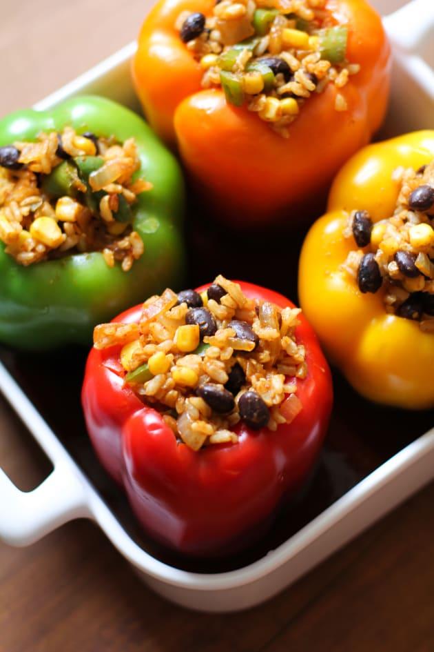 Southwest Stuffed Bell Peppers - Food Fanatic