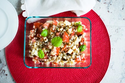 Cauliflower Rice Caprese