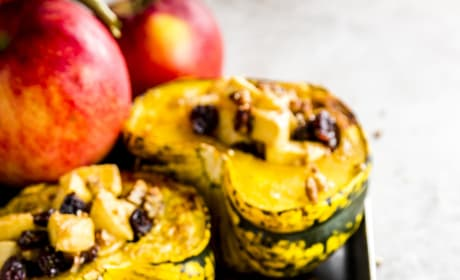 Cranberry Apple Stuffed Acorn Squash Pic