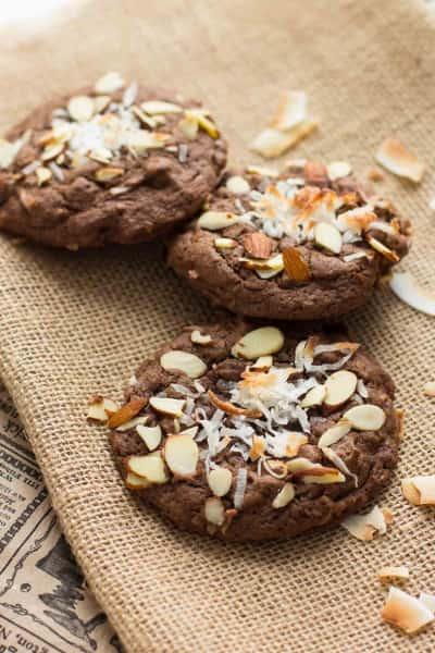 Double Chocolate Almond Joy Cookies Image