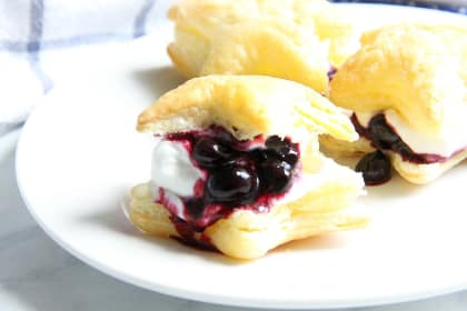 Blueberry Cream Puffs Recipe