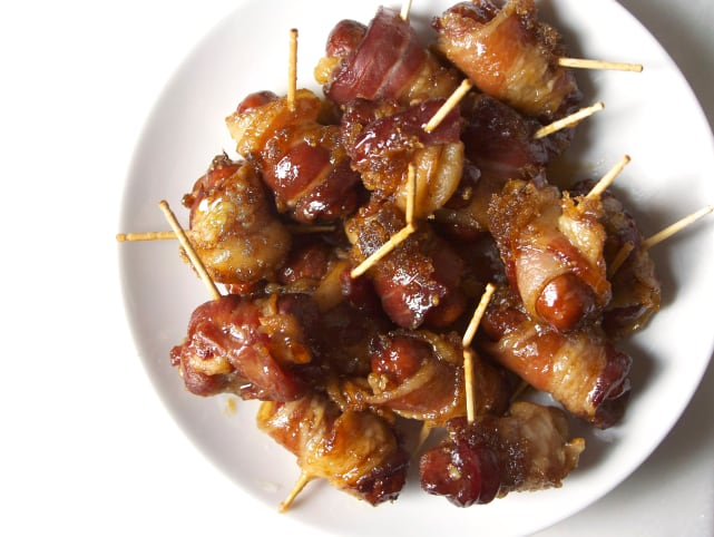 Bacon-Wrapped Smokies Recipe