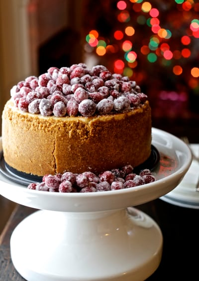 Cranberry Eggnog Cheesecake Pic