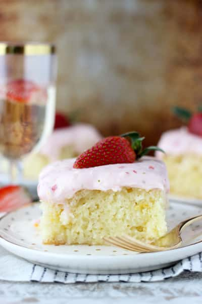 Strawberry Champagne Cake Picture