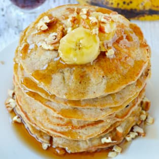 Banana oat pancakes photo