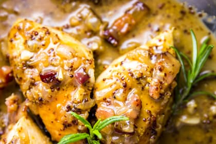 Honey Mustard Chicken with Bacon