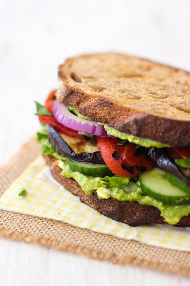 Broiled Eggplant Sandwich Picture